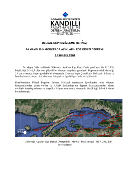 24.05.2014 12:25 tsi ege denizi depremi - UDİM