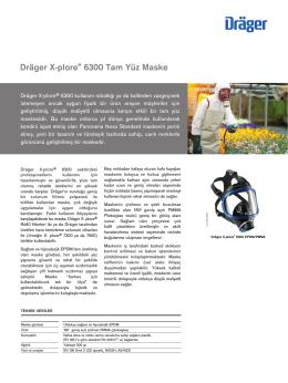Ürün enformasyonları: Dräger X-plore® 6300 Tam Yüz Maske (PDF)