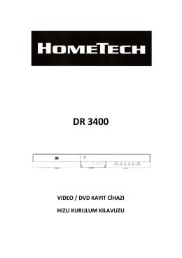 HOMETECH DR 3400 PDF Türkçe Kullanma Kılavuzu