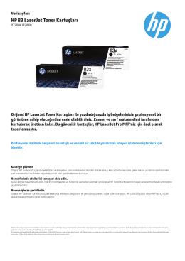 IPG Supplies Laserjet Datasheet 83AX