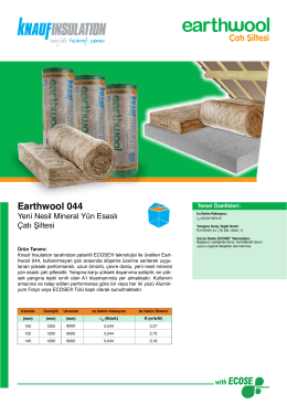 Earthwool 044 - Knauf Insulation