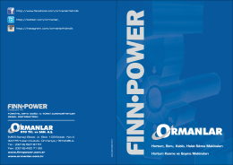 Finn-Power 2014 Genel Katalog