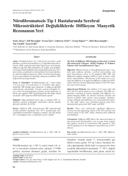 Nörofibromatozis Tip 1 Hastalarında Serebral