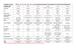 6-12 Yaş Oyun Kuralları