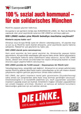 100 % sozial auch kommunal – für ein solidarisches München