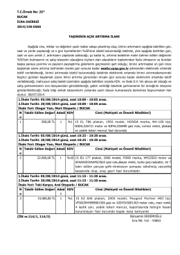 Page 1 T.C.Örnek No: 25* BUCAK İCRA DAİRESİ 2014/156 ESAS