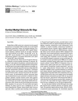 Tam Metin (PDF) - Nöropsikiyatri Arşivi