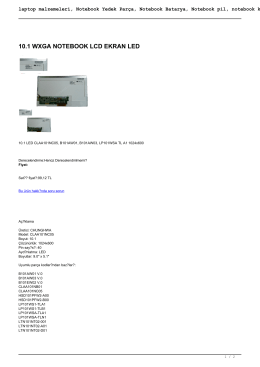laptop malzemeleri, Notebook Yedek Parça, Notebook Batarya