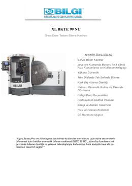 XL BKTE 99 NC - Bilgi Makina