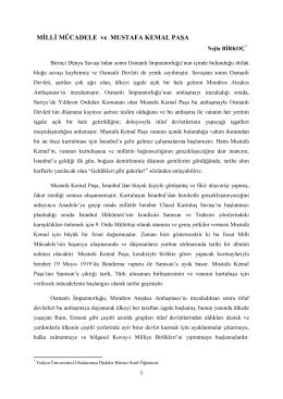Milli Mücadele ve Mustafa Kemal Paşa