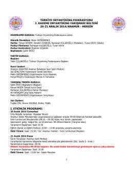 türk ye oryant r ng federasyonu 2. kademe oryant r ng yarışması