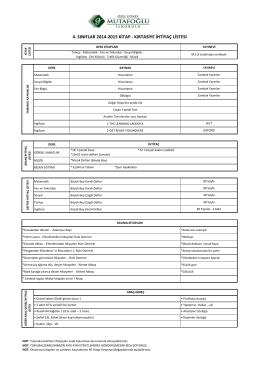 4. sınıflar 2014-2015 kitap