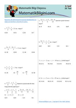x 0 = x - MatematikBilgini.com