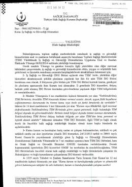 Türkiye Halk Sağlığı Kurumunun İş Sağlığı ve Hizmetleri Hakkındaki