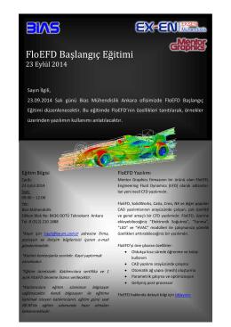 FloEFD Başlangıç Eğitimi