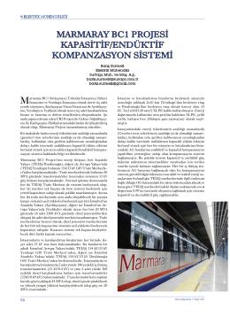 marmaray bc1 projesi kapasitif/endüktif kompanzasyon sistemi
