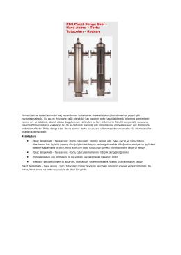 PDK Paket Denge Kabı - Hava Ayırıcı - Tortu Tutucuları