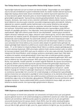 Tüm Türkiye Motorlu Taşıyıcılar Kooperatifleri Merkez Birliği