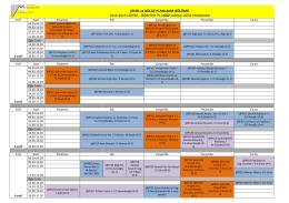 ŞEHİR ve BÖLGE PLANLAMA BÖLÜMÜ 2014