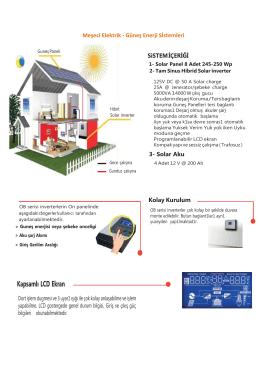 Solar Panel 8 Adet 245-250 Wp