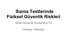 Sızma Testlerinde Fiziksel Güvenlik Riskleri