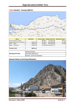 Doğu Karadeniz Kültür Turu 2014