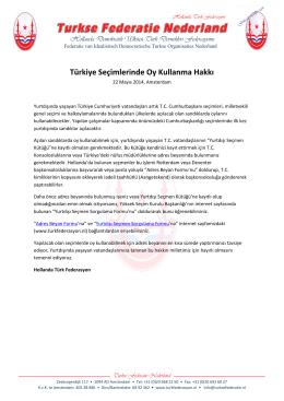 Türkiye Seçimlerinde Oy Kullanma Hakkı