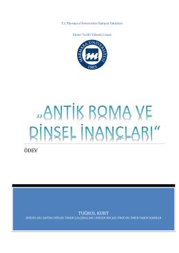 antik roma ve dinsel inançları