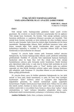 türk müziği terminolojisinde yozlaşma/örnek olay analizi