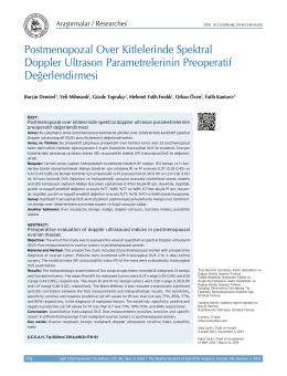 Postmenopozal Over Kitlelerinde Spektral Doppler Ultrason