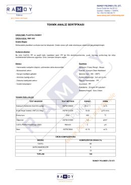 Teknik Analiz Sertifikası RMY-303