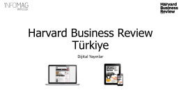 Bütçe - Harvard Business Review Türkiye