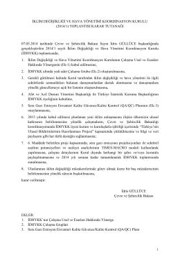 İDHYKK Toplantı Tutanakları - Devlet Su İşleri Genel Müdürlüğü