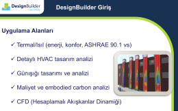 Uygulama Alanları Termal/Isıl (enerji, konfor, ASHRAE 90.1 vs