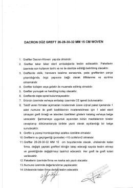 DACRON DOZ GREFT 26.28.30.32 MM 15 CM WOVEN