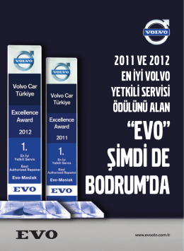 2011 VE 2012 EN İYİ VOLVO YETKİLİ SERVİSİ ÖDÜLÜNÜ ALAN