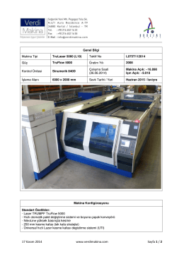 TruLaser 5060 (L19) TruFlow 5000