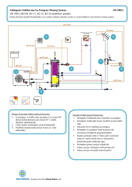 Solimpeks Solitherma Isı Pompası Montaj Şeması (SI