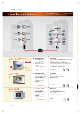 CAV-707AM(AM1/AM2) Home Automation System