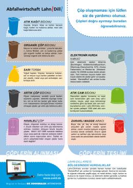 çöplerin teslimi - Abfallwirtschaft Lahn-Dill