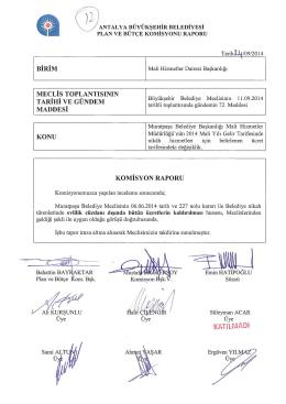 İÜ M - Antalya Belediyesi