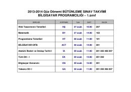 bütünleme 2013-2014