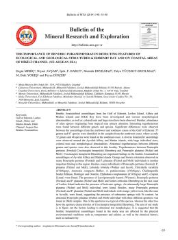 the ımportance of benthıc foramınıferasın detectıng