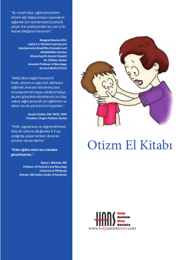 Otizm El Kitabı - Help Autism Now Society