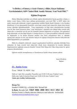 Eğitim Programı İş Bank. Beyoğlu Şub. TR65 0006