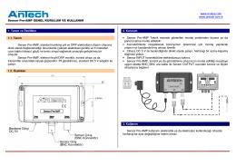 www.enelsa.com www.antech.com.tr Sensor Pre