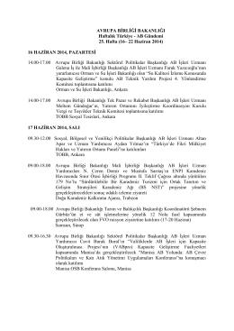 16– 22 Haziran 2014 - Avrupa Birliği Bakanlığı