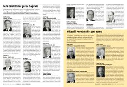 SAYFA 20-21 YENİ DİREKTÖRLER GÖREV