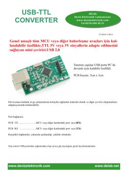 usb-ttl converter - DENiZ ELEKTRONiK LABORATUVARI