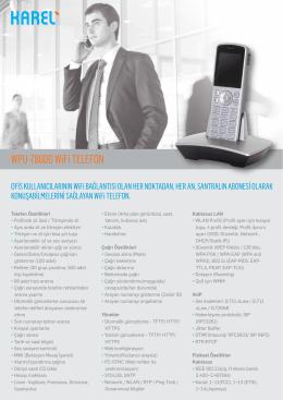 Karel WPU-7800G WİFİ TELEFON Kataloğu